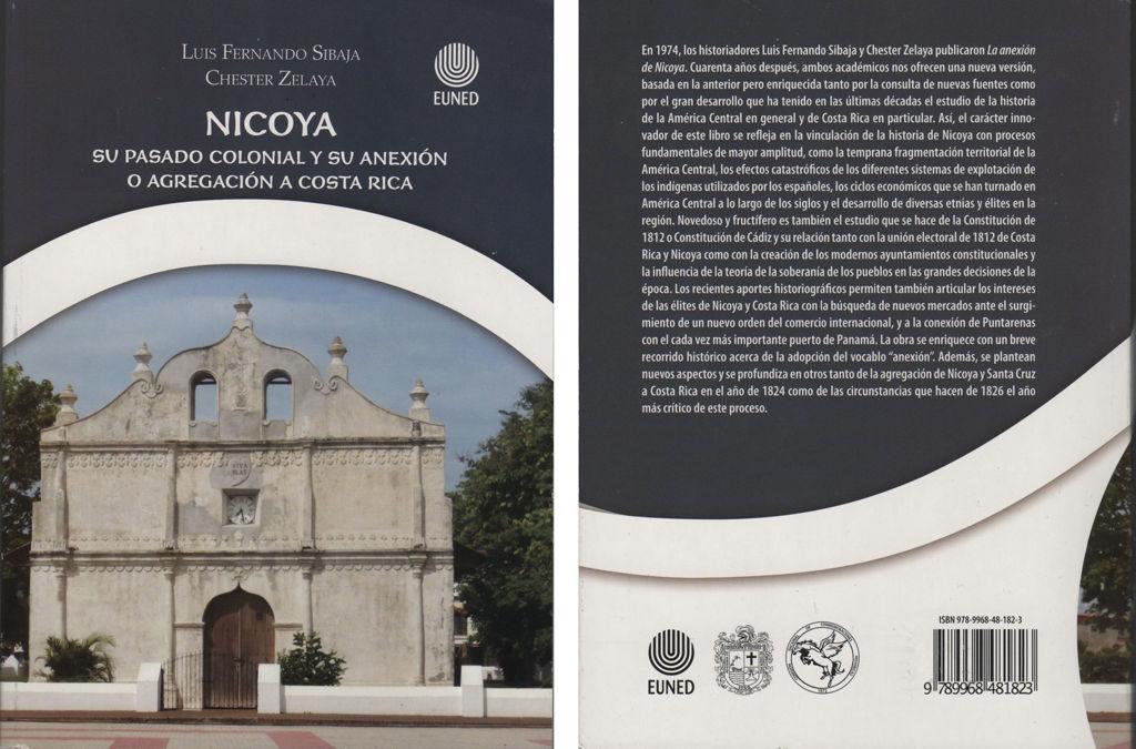 Portada del libro: Nicoya – su pasado colonial y su anexión o agregación a Costa Rica