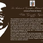 "Convocatoria Premio de Historia ""Cleto González Víquez"" 2018"